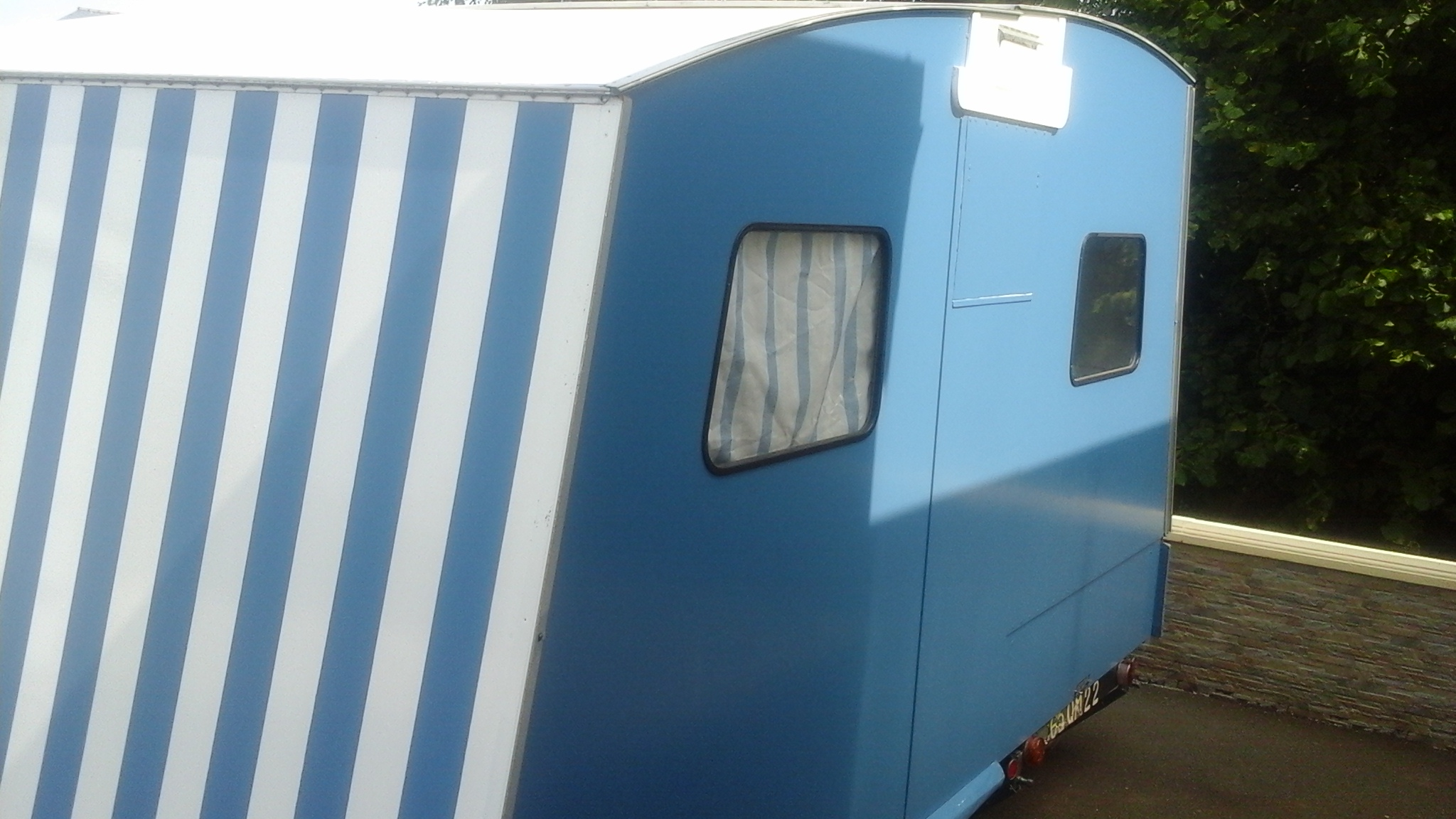 La caravane Rapido Belle Bleue Cara